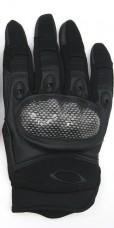 """Перчатки с пластиковым """"кастетом"""" для защиты суставов. Черные. Специальная цена"""