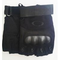 Тактичні рукавички без пальців з накладками Чорні Спеціальна АКЦІЯ до  відкриття нового магазину! 5f073e7a7c95d