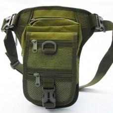 Тактическая (поясная) наплечная сумка с отделением под пистолет Silver Knight OLIVE