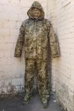 Дождевик костюм куртка и штаны камуфляж укрпиксель ММ-14