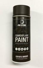 Краска маскировочная аэрозольная для оружия Recoil COYOTE BOWN коричневый койот