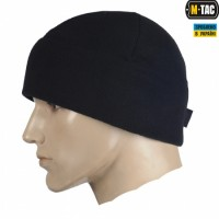 Шапка M-Tac Watch Cap Elite фліс (260г/м2) with Slimtex Black