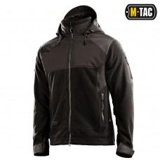 Купить Куртка M-Tac Norman Windblock Fleece Black фліс-софтшелл в интернет-магазине Каптерка в Киеве и Украине
