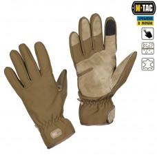 Зимние перчатки софтшелл M-Tac WINTER TACTICAL WATERPROOF COYOTE