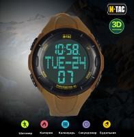 Годинник тактичний з крокоміром M-TAC Coyote