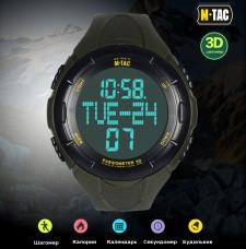 Годинник тактичний з крокоміром M-TAC OLIVE
