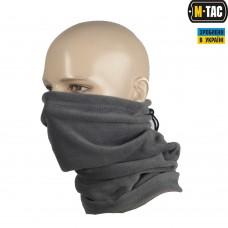 M-Tac зимний шарф-труба с завязкой цвет серый
