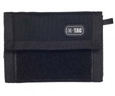 M-Tac кошелек с отделением для карточек и липучкой Black Cordura