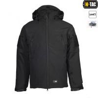 Куртка софтшелл M-TAC з флісовою підстібкою чорна