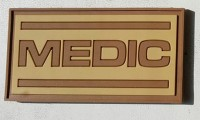 PVC нашивка с липучкой Medic койот