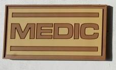 Купить PVC нашивка Medic койот в интернет-магазине Каптерка в Киеве и Украине