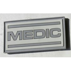 PVC нашивка Medic сіра