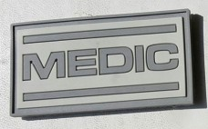 Резиновая нашивка Medic серая