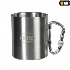 Купить Термокружка M-TAC 280мл нерж. с карабином в интернет-магазине Каптерка в Киеве и Украине