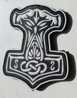 M-Tac резиновый шеврон Молот Тора черный