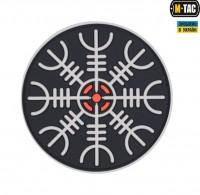 Шлем Ужаса PVC шеврон черно-белый M-Tac