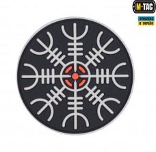 Купить PVC патч Шолом Жаху чорно-білий в интернет-магазине Каптерка в Киеве и Украине