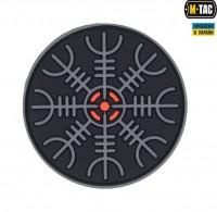 Резиновый шеврон Шлем Ужаса черно-серый M-Tac