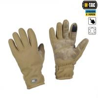 Зимние перчатки виндблок M-Tac WINTER TACTICAL WINDBLOCK 295 койот