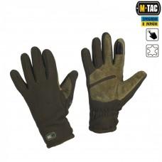 Зимние перчатки виндблок M-Tac WINTER TACTICAL WINDBLOCK 295 олива