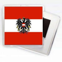 Магнит флаг Австрии с гербом