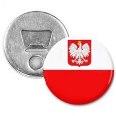 Купить Открывашка магнит флаг Польши с гербом  в интернет-магазине Каптерка в Киеве и Украине