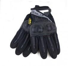 """Тактические перчатки с """"кастетом"""" черные"""