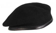 Бесшовный берет черный MFH 10104A Commando Black