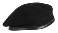 Безшовний берет чорний MFH 10104A Commando Black