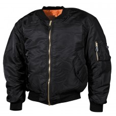 Куртка пилот US Flight Jacket MA1 MFH Black