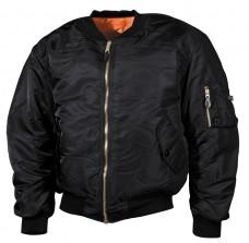 Куртка пілот US Flight Jacket MA1 MFH Black