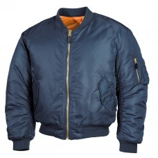 Куртка пилот US Flight Jacket MA1 MFH BLUE