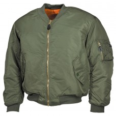 Куртка пілот US Flight Jacket MA1 MFH OLIVE