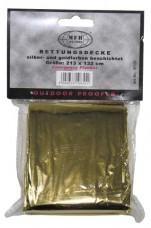 Спасательное одеяло золотистое/серебристое MFH 27131