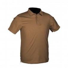 Тактична футболка поло TACTICAL QUICK DRY POLOSHIRT Mil-Tec Dark Coyote