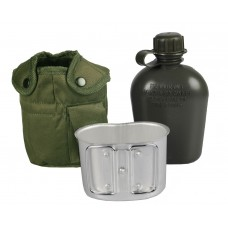 Mil-Tec фляга 1л тип США з підфляжником та чохлом. Олива