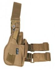 Кобура пістолетна колір койот на праву ногу Mil-tec