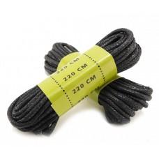 Вощенные шнурки для берц MIL-TEC 220см черные