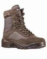 Зимние ботинки MIL-TEC тактические на молнии BROWN Thinsulate