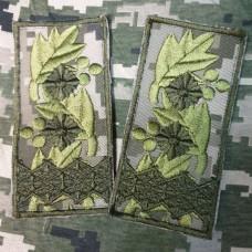 Погон Генерал лейтенант ММ14 на липучці Акція Пара