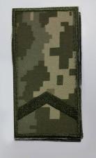 Погон на липучці камуфляж ММ14 старший солдат