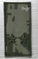 Погон на липучці камуфляж ММ14 підполковник