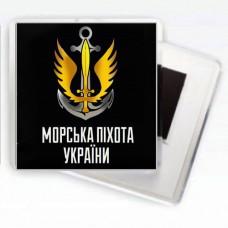 Купить Магнітик Морська Піхота України (чорний) в интернет-магазине Каптерка в Киеве и Украине