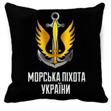 Купить Декоративна подушка Морська Піхота (чорна) в интернет-магазине Каптерка в Киеве и Украине