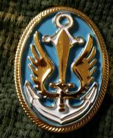 Кокарда Морська Піхота України (Пластик)