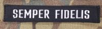 Нашивка SEMPER FIDELIS чорна