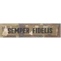 Нашивка SEMPER FIDELIS піксель чорна нитка