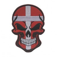Нашивка прапор Данії (череп)