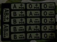 Нашивка группа крови NATO style вышивка OLIVE