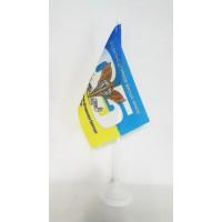 Настольний флажок 95 ОДШБр ДШВ символика на фоне флага Украины